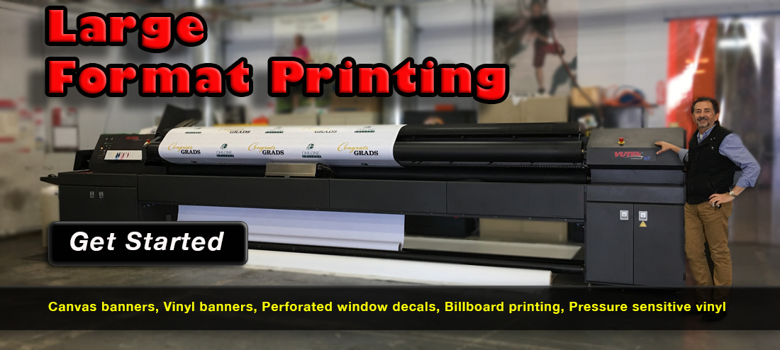 Large format printing signs and banners